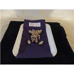 Broach and Earrings Set
