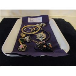 4 Bracelets, Broach, Earing Set and Other Earrings