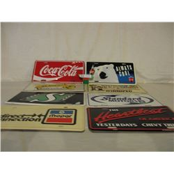 8 Coca-Cola and Other Novelty License Plates