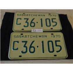 Pair of 1970 Saskatchewan Commercial License Plates