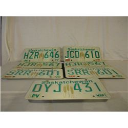 7 1970s and 1980s Saskatchewan License Plates