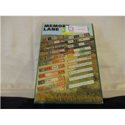 "Saskatchewan License Plate ""Memory Lane"" History Book"