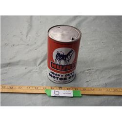 Husky Oil Heavy Duty Motor Oil One Quart Oil Can (Re-Wrap)