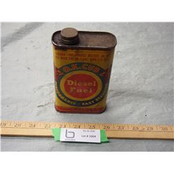 "Vintage O.K. Club Diesel Fuel Can 6"" T"