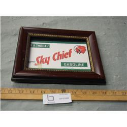 "Frame Sky Chief Gasoline and 9"" by 7"""