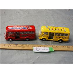 "2X THE MONEY - Toy Buses 5.5"" L"