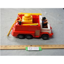 "Fisher Price Fire Truck 11"" Long"