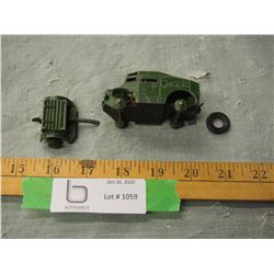 Dinky Toy Field Artillery Tractor (Missing Tires)