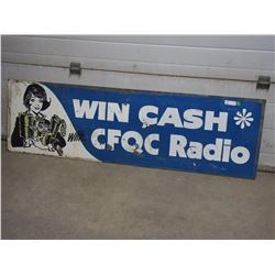 Double Sided Tin Sign CFQL Radio 70 by 21