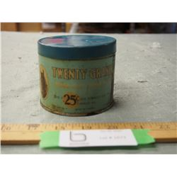 Twenty Band 25 Cents Tobacco Tin