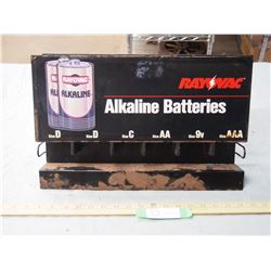Alkaline Batteries Display 17.5  by 3  by 11.5