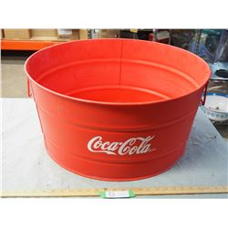 "Coca-Cola Tub 24"" Round and 11.5"" T"
