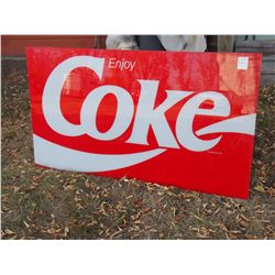 Plastic Coke Advertising Insert Panel 57  by 33