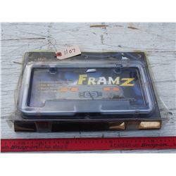 Neon Frame License Plate