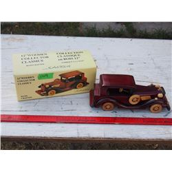 "12"" Wooden Collector Classic Car in Box"