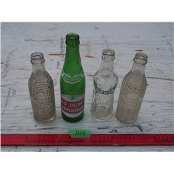 Vintage Pop Bottles 3 Crush, 1 Old Colony (Small Chip)