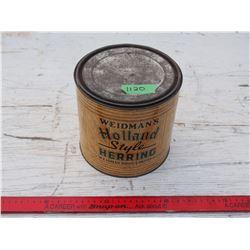 "Herring Tin 7 by 6.5"" T"