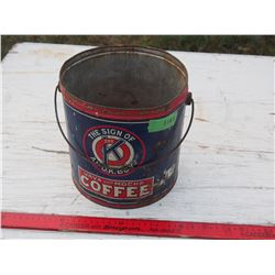 "Coffee Tin 8 by 8.5"" T (No Top)"