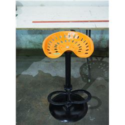 Tin Seat on Stand with Foot Rest