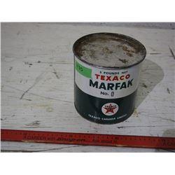 Texaco Marfak 5 Pound Tin
