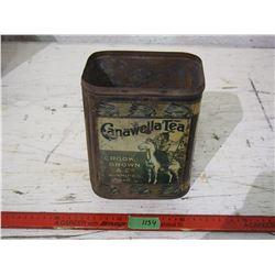 "Rare Canawella Tea Tin Crook Brown + Co Winnipeg Man 9"" T (No Top)"