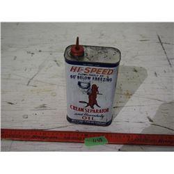 Hi-Speed Cream Separator Tin