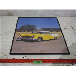 1950s Framed Car Picture 16 by 20