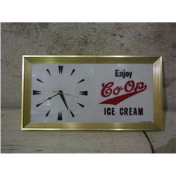 Co-Op Ice Cream Clock (Working) 19.5 by 10.5""
