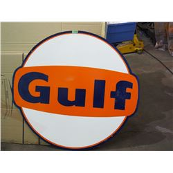 "Gulf Sign 40"" Round (Single Sided, Touched Up)"