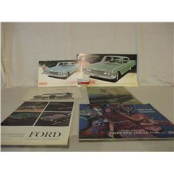 Box of 10 1960s Ford Car Brochures