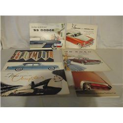 Box of 6 1950s Dodge Car Brochures