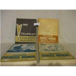 4 Chevrolet 1960s Service Manuals