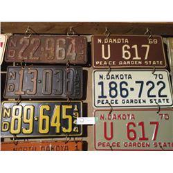 33 Assorted North Dakota License Plates (Some Pairs) 1930s-1980s