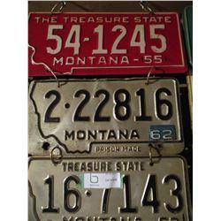 12 Montana and Arizona Assorted License Plates 1950s-1970s