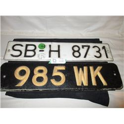 Foreign License Plates