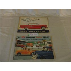 2 Chevrolet 1955 Car and Truck Brochures