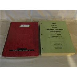 2 Chevrolet 1946 and 1975 Parts Manuals