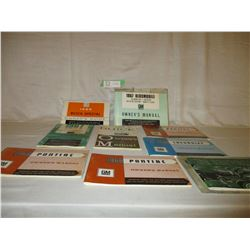 9 1966/67/68 Chevrolet, Buick and Pontiac Car Owners Manuals