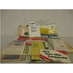 Box of Assorted 1960s/70s Chevrolet Car Owners Manuals