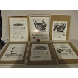 """Chevrolet 1999 Collector Series 1950s Cards 11"""" by 14"""" and 8"""" by 11"""""""