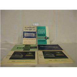 6 1960s American Rambler Car Owner Manuals