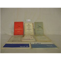 8 1960s Dodge and Plymouth Owners Manuals