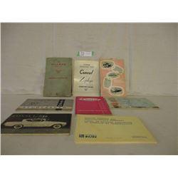 8 Assorted European 1960s Car Owner Manuals