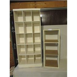 Pair of Storage Units One Cardboard and One Wooden