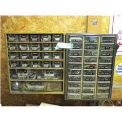 2 Wall Mounted Small Storage Units with Fittings