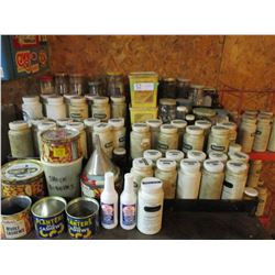 Large Assortment of Nuts and Bolts on 2 Metal Display Stands