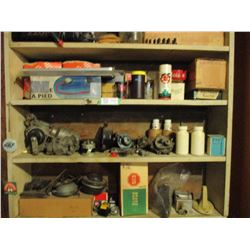 """Wooden Display Unit with Automotive Parts and Accessories 8"""" by 36"""" by 37"""""""