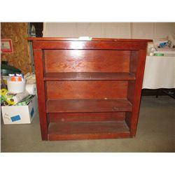 "Wooden Storage Shelf Unit 14 by 38.5 by 37"" T"