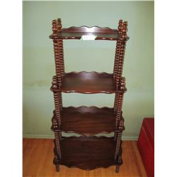 """Wooden Shelf Unit with Spiral Columns Tier 25 by 53"""""""