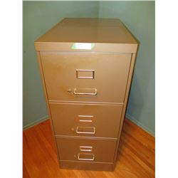 """3 Drawer Metal File Cabinet 18 by 28 by 42"""" T"""